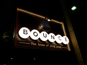 bounce, the home of ping pong