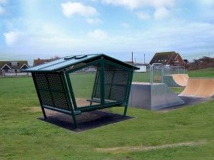Youth Shelter by skate park