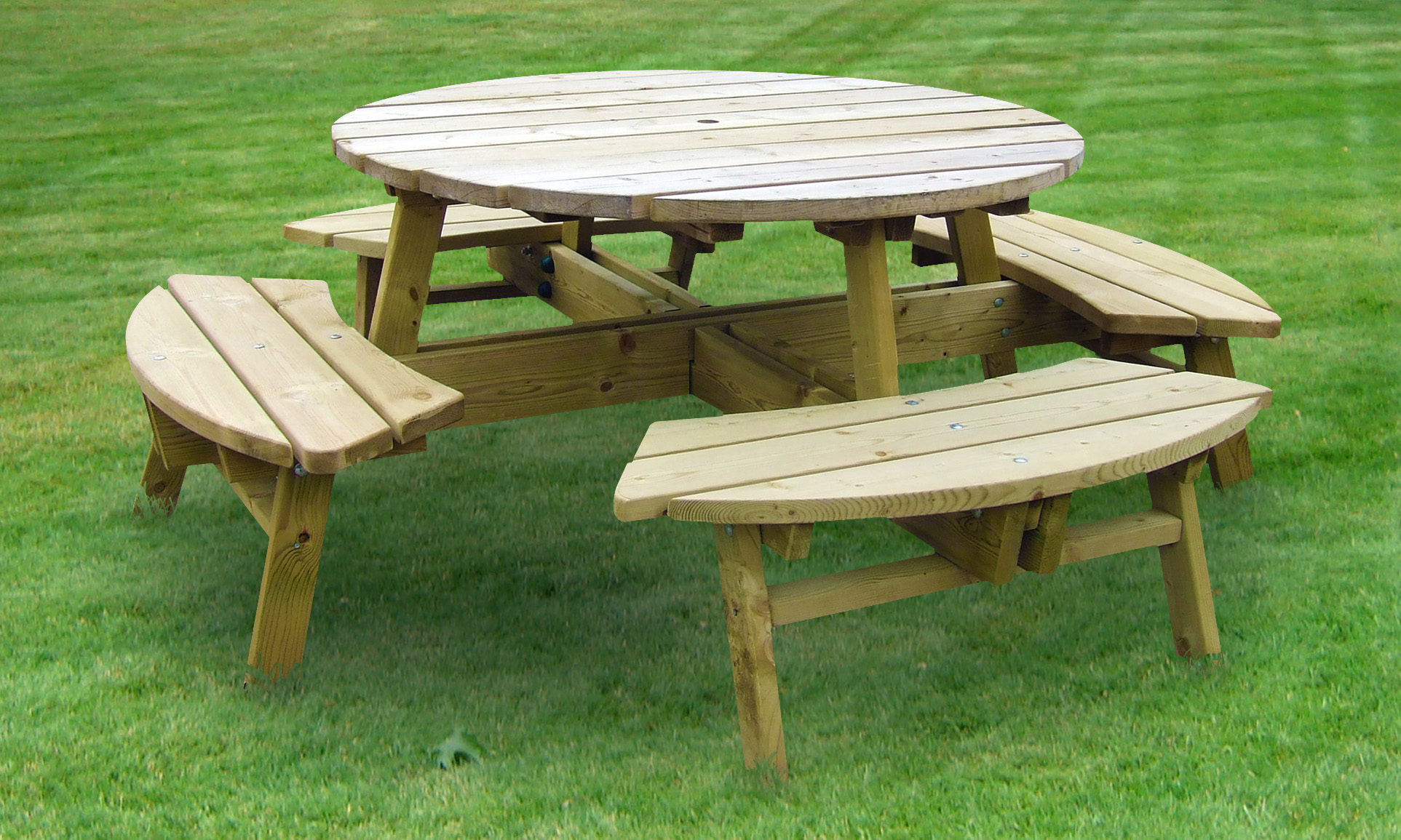 Round Picnic Table Caloo Ltd - 8 seater round picnic table