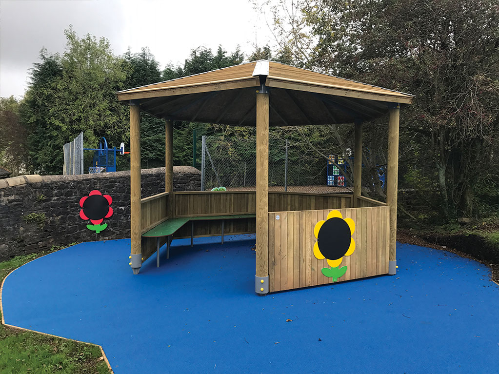 Play Canolfan Yr Afon Infant School Outdoor Classroom And
