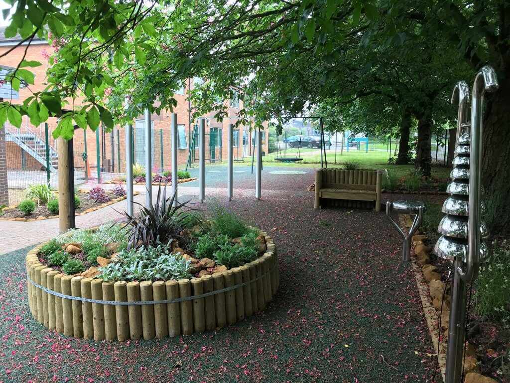 Heavy Equipment Playground >> Play|Birch Wood Special School Sensory Garden - Caloo Ltd